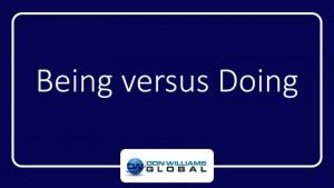Being vs Doing